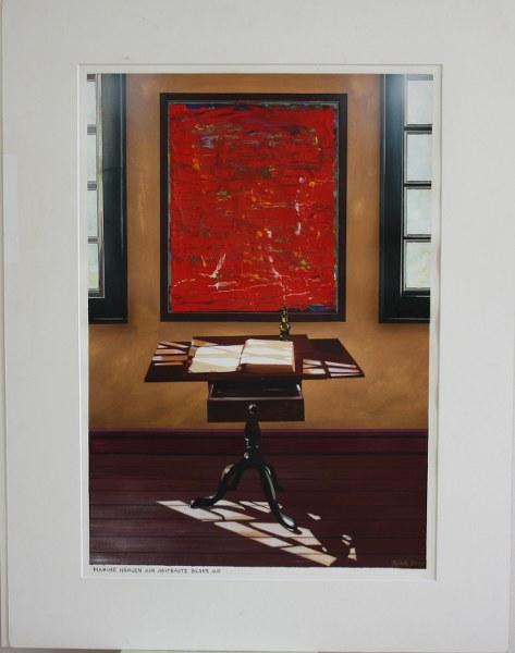 Manche hängen sich abstrakte Bilder auf 2002 © Hanno Rink